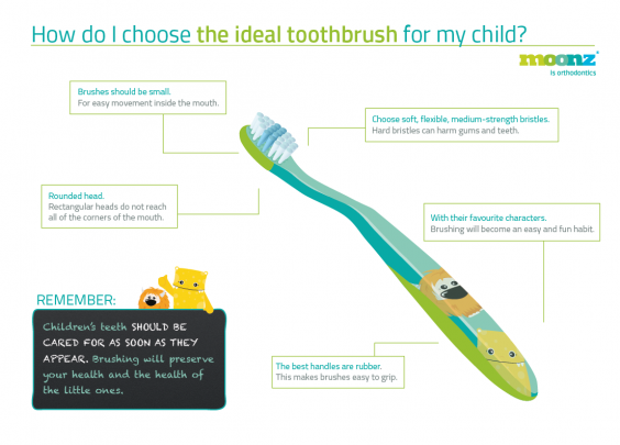 How do I choose the toothbrush for my child?